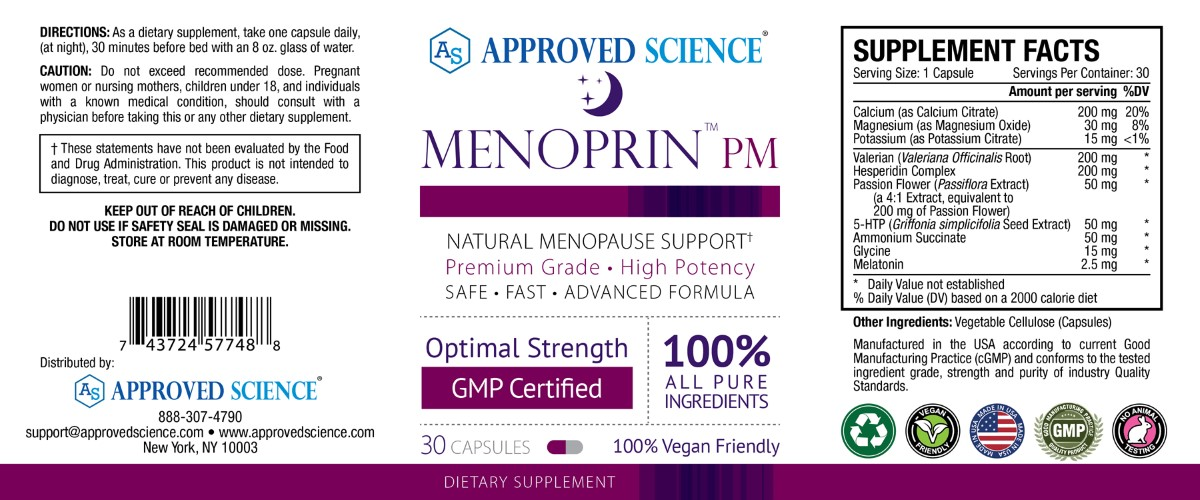 Menoprin Supplement Facts